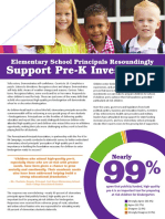 Pre-k Investments Report