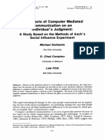The Effects of Computer Mediated Communication on an Individual's Judgment (Smilowitz, Compton, Flint)