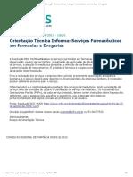 CRF-RS_ Orientação Técnica Informa_ Serviços Farmacêuticos Em Farmácias e Drogarias