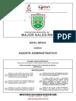 Prova de Agente Administrativo - Nível