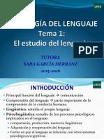 Tema 1 El Estudio Del Lenguaje