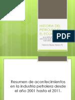 Historia Del Petroleo en El Ecuador