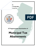 NJ Comptroller's Tax Abatement Report