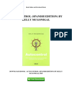Autocontrol Spanish Edition by Kelly Mcgonigal