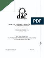 2014_DIF_Programa de Atencion Para Adultos Mayores_Reglas de Operacion