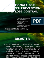 Rationale for Disaster Prevention and Loss Control