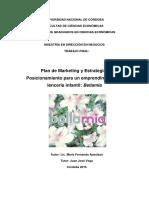 Apaolaza, Maria Fernanda. Plan de Marketing  Estrategia de...