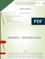 ESFUERZO-DEFORMACION