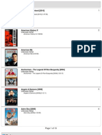 iPod Classic 120gb Movie List