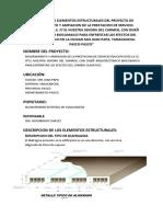 Analisis de Los Elementos Estructurales Del Proyecto De