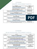 online pd schedule