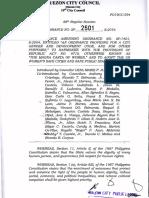Ordinance No. SP. 2501, S-2016