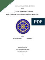 Tujuan laporan keuangan dan karakteristik kualitatif informasi akuntansi