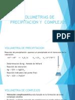 Volumetrias de Precipitacion y Complejos