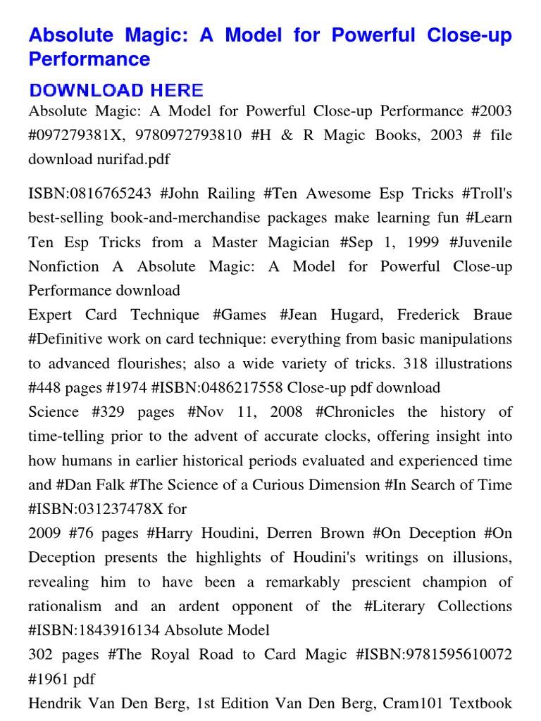 Magic Book Pdf File