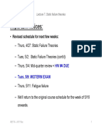 Lecture 7 - Static Failure Theories