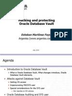 BlackHat USA 2010 Fayo Hacking Protecting Oracle Databease Vault Slides