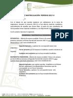 GUÍA DE MATRICULACIÓN  PERÍODO 2017-II