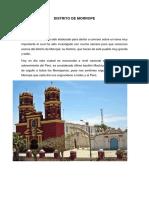Distrito de Morrope Historia