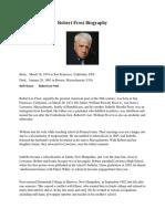 Biography of Robert Lee Frost