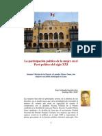 La participación política de la mujer en el Perú politico del siglo XXI