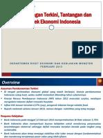 2.2 Perkembangan Terkini, Tantangan Dan Prospek Ekonomi Indonesia