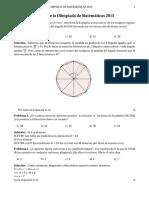 Olimpiada Nacional Matemática 2015