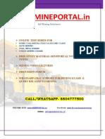 Mine Portal Test Series Schedule
