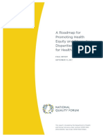 NQF Roadmap for Promoting Health Equity and Eliminating Disparities Sept 2017