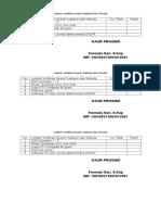 Lembar Verifikasi Syarat Yudisium Dan Wisuda