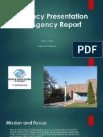 ahs 8100 week 5 agency report presentation