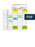 AgBio Learning Community 1 Schedule (AB01 Alternate)