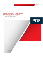 ERP Cloud Service Checklist