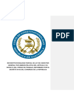 Inconstitucionaliad Parcial de Ley de Carácter General Del Artículo 152