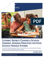 Systemic District Change and School Funding