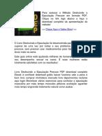 Destruindo a Ejaculaçao Precoce PDF DOWNLOAD