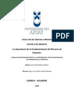 Doctrina Casacion Analisis Ley 2016
