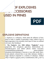 Explosives and Accesoriers