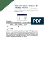 Ejemplo de Aplicación de Un Pronóstico de Variación Estacional o Cíclica
