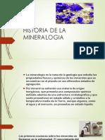 historia de la mineralogia
