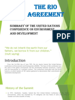 Report on the Rio Agreement
