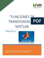 PRACTICAs (Funciones de Transferencia en MATLAB)