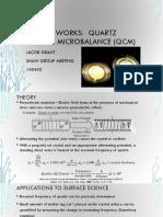 QCM works