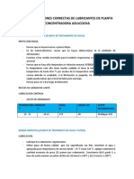 Uso y Aplicaciones Correctas de Lubricantes de Planta Concentradora Azulcocha