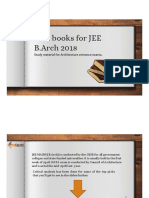 Best books for JEE B.Arch 2018