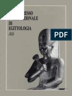 SESTO CONGRESSO INTERNAZIONALE DI EGITTOLOGIA Atti VOLUME II