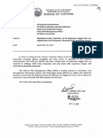 Bureau of Customs memo on Mandatory Xray Inspection of All Shipments Tagged Red