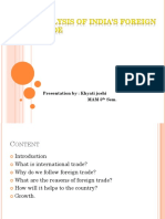 Analysis of India's Foreign Trade