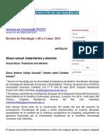 Revista de Psicología (PUCP) - Abuso Sexual_ Tratamientos y Atención