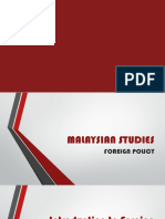 Malaysian Foreign Policy
